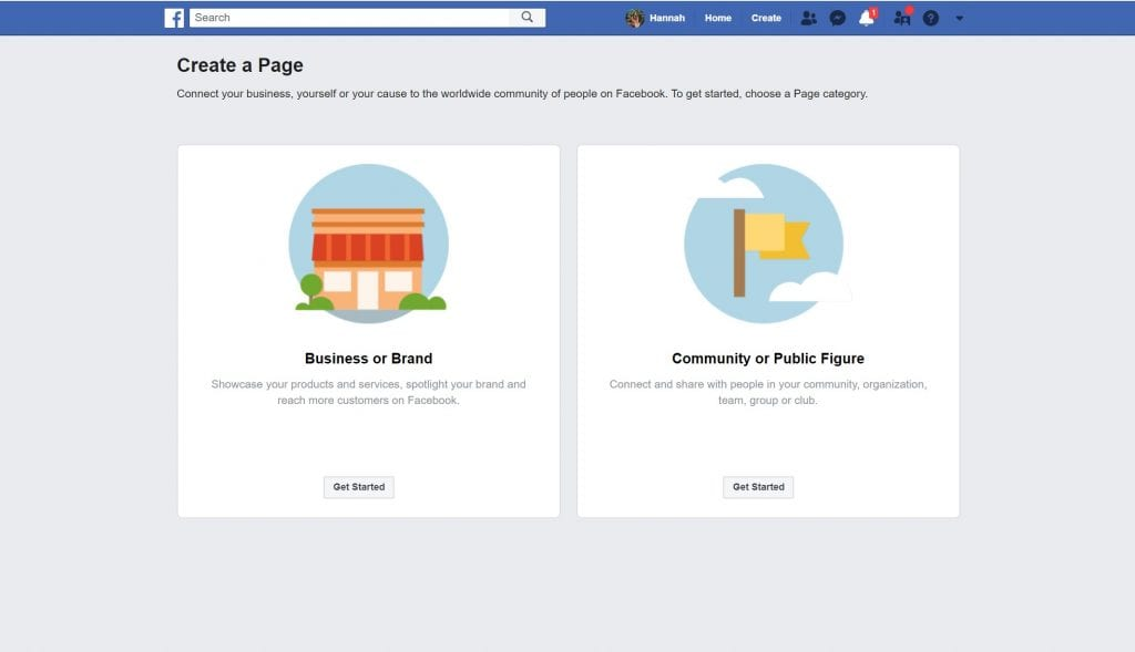 Create a Facebook Page. Step 14 to launching your blog