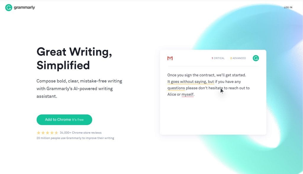 Grammarly Plugin. last step before launching your blog